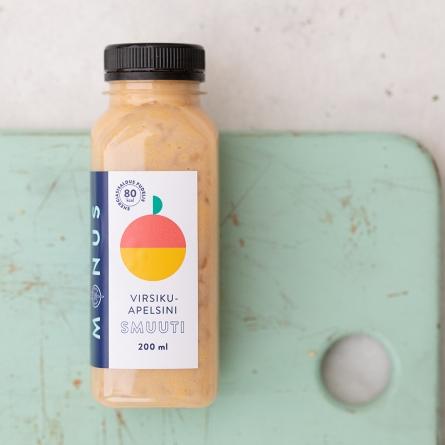 MÖNUS Virsiku-apelsini smuuti 200 ml