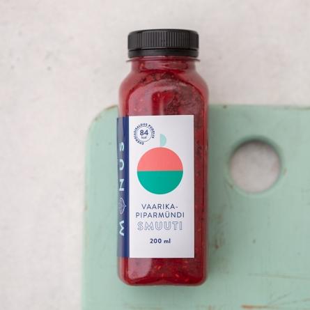 MÖNUS Vaarika-piparmündi smuuti 200 ml